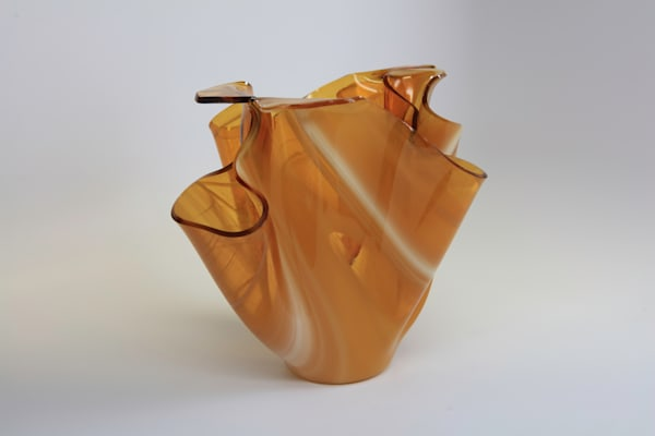 0014 Amber Vase Art | Midamericanartisans