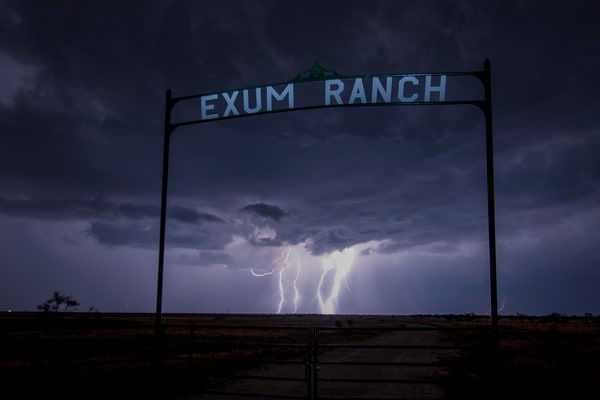 Exum Ranch Storm, by Jim Livingston