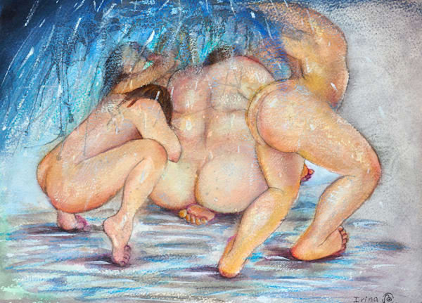 Bathers. Not Ashamed - Fine Art Prints on Canvas, Paper, Metal & More by Irina Malkmus