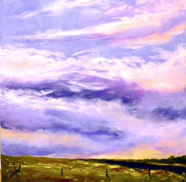 "Alberta Skies #2 - Acrylic on Gallery Canvas (24"" x 24"")"