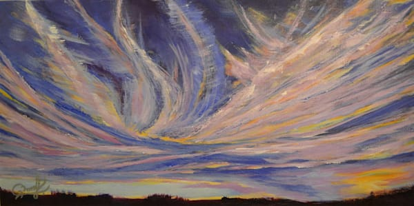 "Alberta Skies #11 - Acrylic on Gallery Canvas (20"" x 10"")"