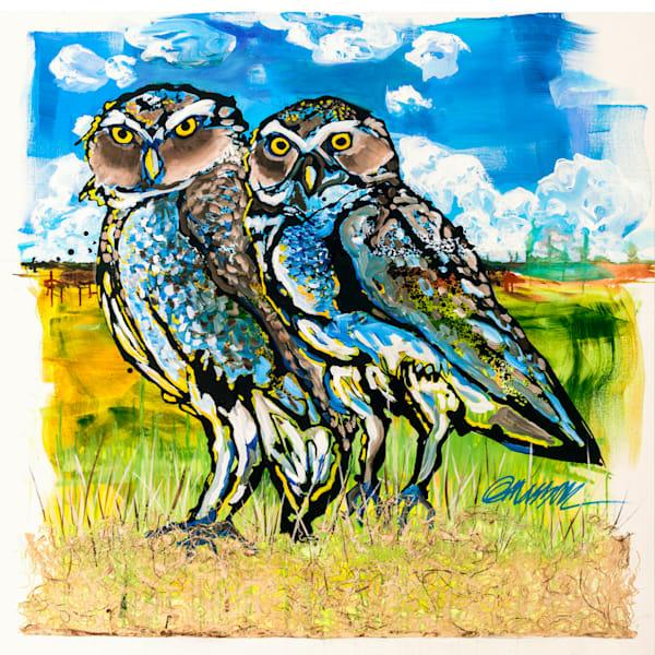 """Burrowing Owls"" 48x48 . $2,400"