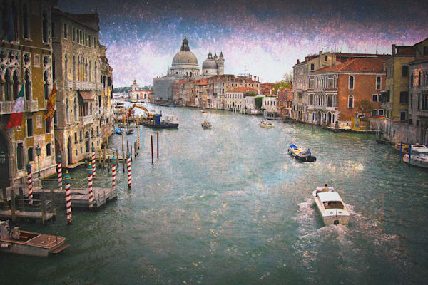 Venice art, Grand Canal, Italy
