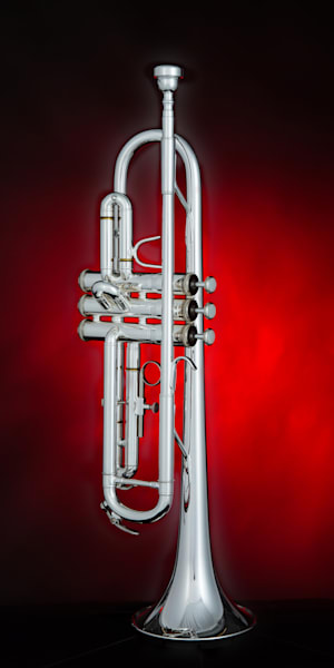 Silver Trumpet on Red Color 2501.16