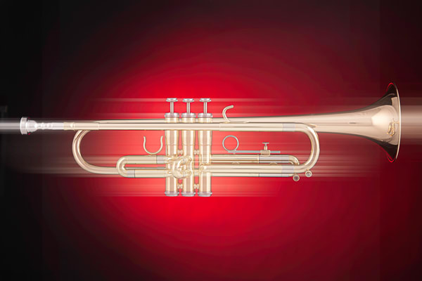 Trumpet Streak Wall Art Decor 2501.25