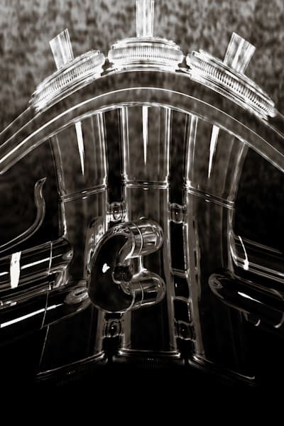 Trumpet Valves on Metal In Black and White 2502.36