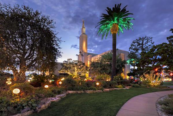 Los Angeles California Temple - Christmas Lights