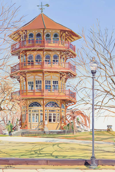 Pagoda / Print Art | Crystal Moll Gallery