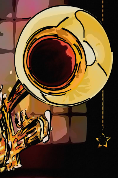 Trumpet Painting Fine Art Prints