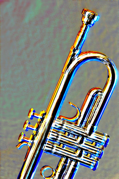 Trumpet Embossed Fine Art Metal Prints