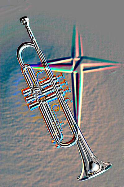 Embossed Trumpet and Cross 2504.56