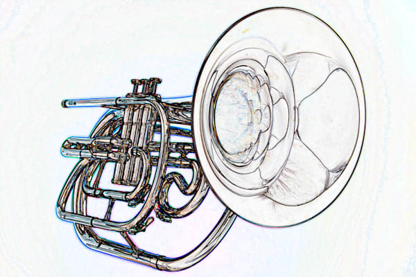 Trumpet Watercolor Fine Art Prints