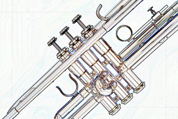 Music Art Trumpet Watercolor 2506.11