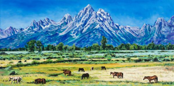 Wyoming Grand Tetons  Mountain Range Painting | Brian Timmer Art
