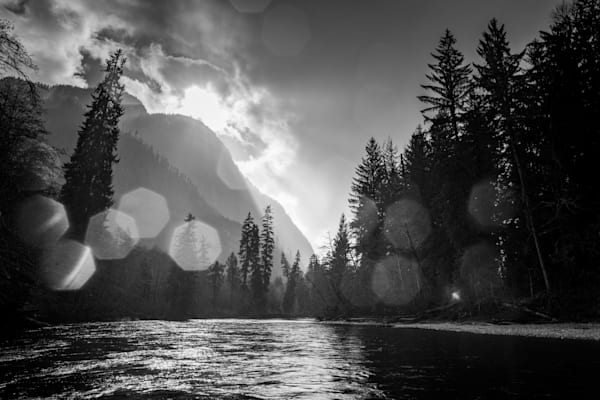 Phillips River - Landscape Images In Black And White By Eiko Jones