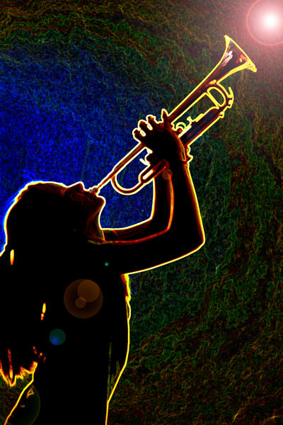 Inspired Trumpet Silhouette 2508.77