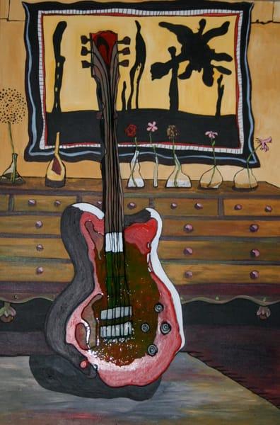 Red Guitar Art | laineek
