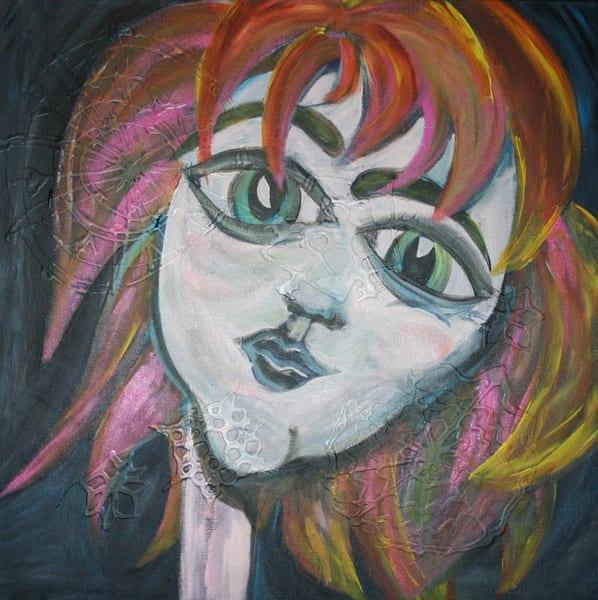 24x24 Snowflake Girl Art | laineek
