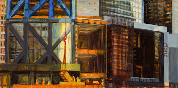 "Morning Light, West 53rd Street, 2017, 15"" x 30"""