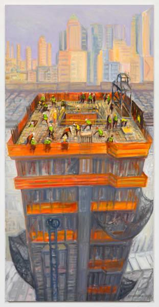 "Tower Rising, Midtown, 2016, 48"" X 24"" Art | Gwyneth Leech"