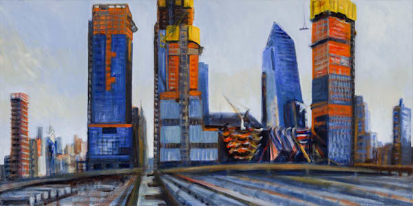 "Hudson Yards Afternoon 2017, 18"" x 36"""