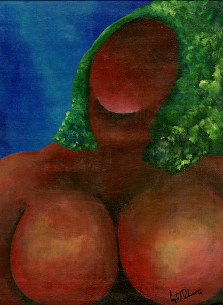 ATR Fine Art- Voluptious- Humanscape- Acrylic painting by Navy Veteran and artist Angelo T. Robinson