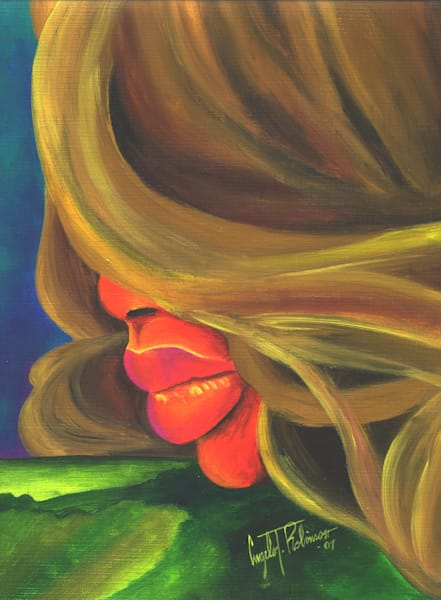 ATR Fine Art- Hilltop Kiss- Humanscape- Painting by Navy Veteran Angelo T Robinson