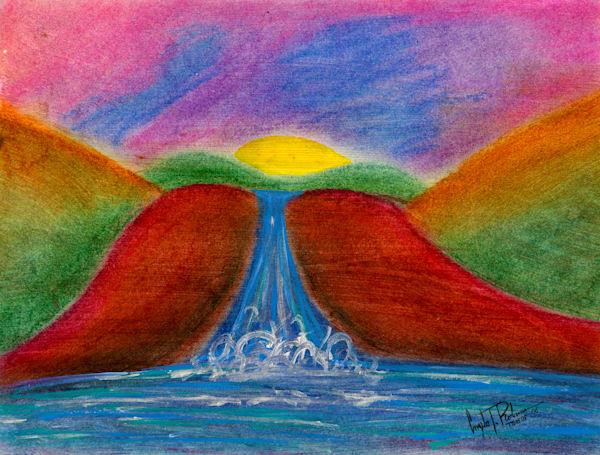 ATR Fine Art- Humanscape- Sunset art- Figure Painting by Navy Veteran Angelo T Robinson