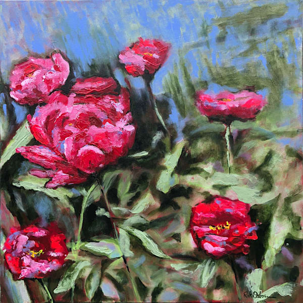 Fine Art Flower Paintings & Prints | Colorful Flowers and Zinnias Painted in Oil or Acrylic