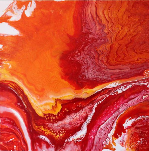 Prayer to Pele Acrylic on Canvas Painting