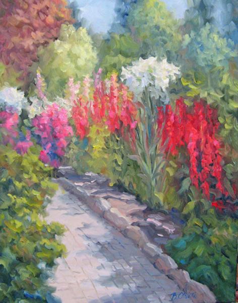 Sunlit Garden Art | B. Oliver, Art