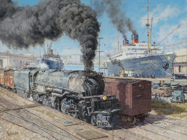 Trains and Railroading Paintings and Prints