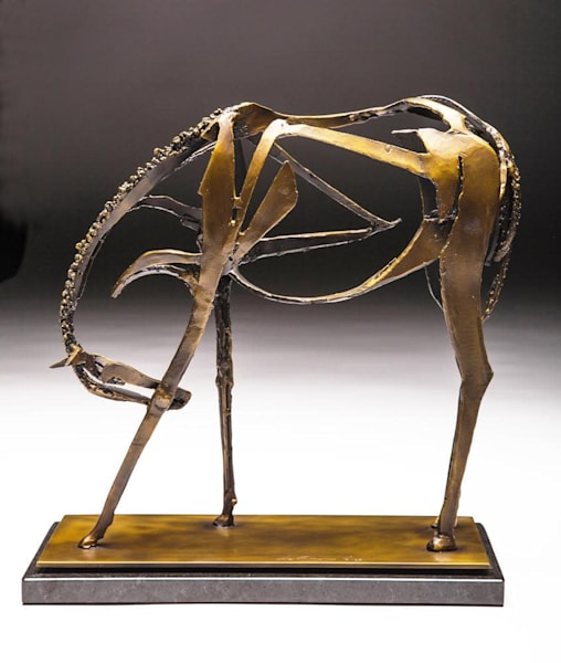 Horse Sculpture | Salutation | Southwest Art Gallery Tucson