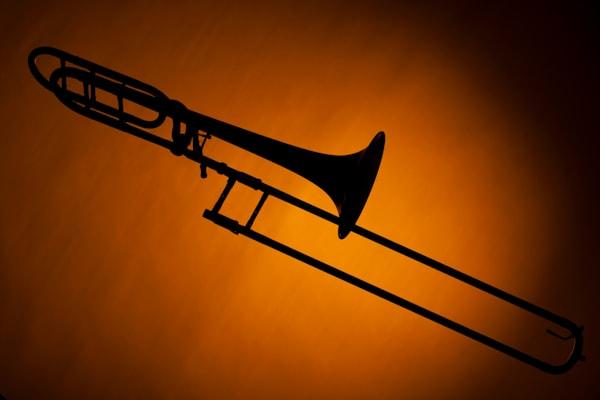 Trombone Silhouette Metal Art 2608.45