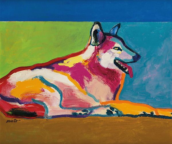 John Nieto Wolf Resting | Southwest Art Gallery Tucson