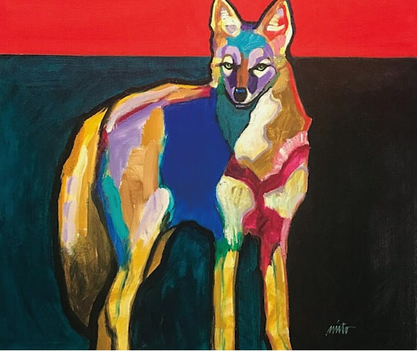 John Nieto Pretty Boy Coyote | Southwest Art Gallery Tucson