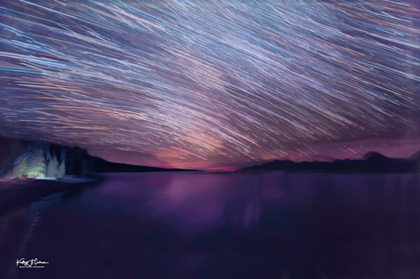 Startrails From Milky Way Over Jackson Lake  Photography Art | Images2Impact