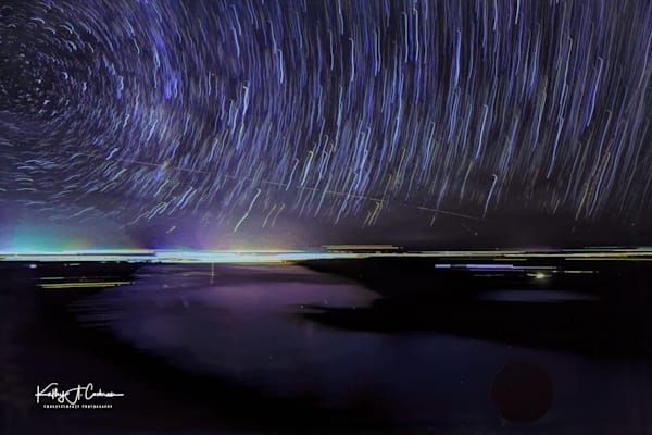 Star Trails Over Lake Fremont Overlook V2 Photography Art | Images2Impact