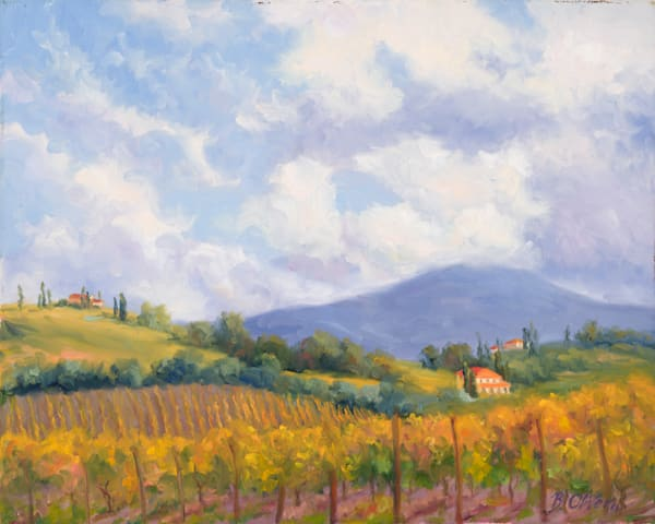 Vineyards In Autumn Art | B. Oliver, Art