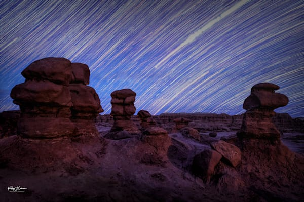 Star Trails Goblin Valley St. Park