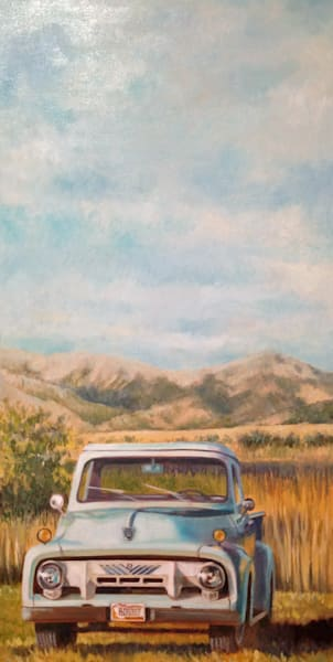 "ford, bridger mountains, montana, trucks24"" x 48"""