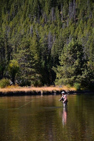 Vert Fly Fisher Snake River 5980 Photography Art | Swan Valley Photo
