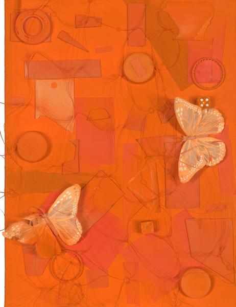 ATR Editions - Mixed Media Art- Orange Butterflies - Fine Art Prints on Canvas, Paper, Metal by Navy Veteran Angelo T. Robinson