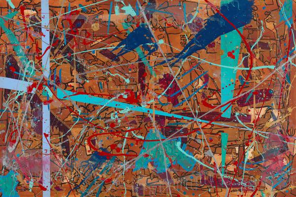 ATR Fine Art- Abstract painting- Synaptic Symphony by Navy Veteran Angelo T Robinson
