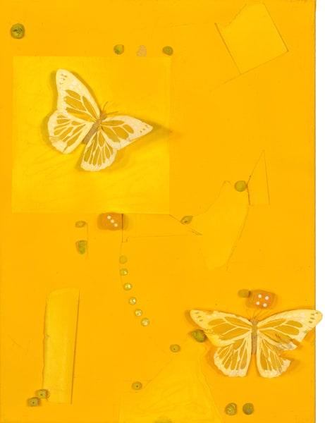 ATR Editions - Mixed Media Art- Yellow Butterflies- Fine Art Prints on Canvas, Paper, Metal by Navy Veteran Angelo T. Robinson