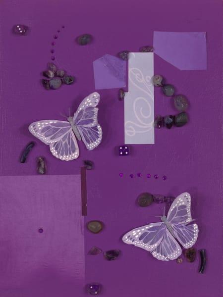 ATR Editions - Mixed Media Art-Purple Butterflies - Fine Art Prints on Canvas, Paper, Metal by Navy Veteran Angelo T. Robinson