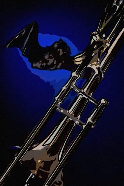 Wall Art Bat and Trombone Painting 2603.09