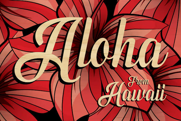 Wood Postcards | Aloha From Hawaii Hibiscus