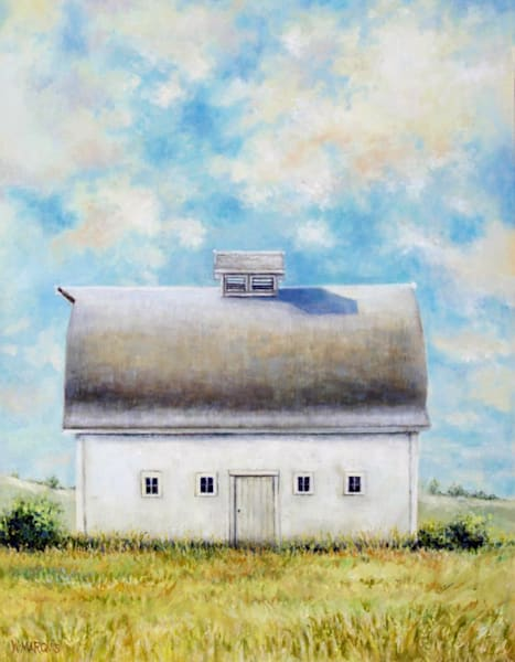 barns, white, original, oil painting