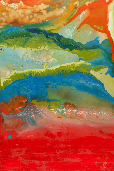 Caroline Pyle abstract art View from Mars